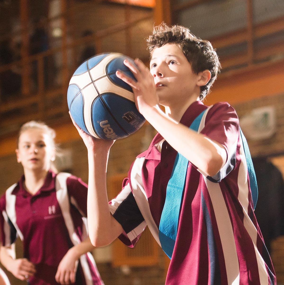 Basketball student