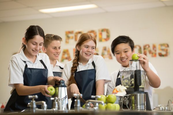 Students at Food Technology centre