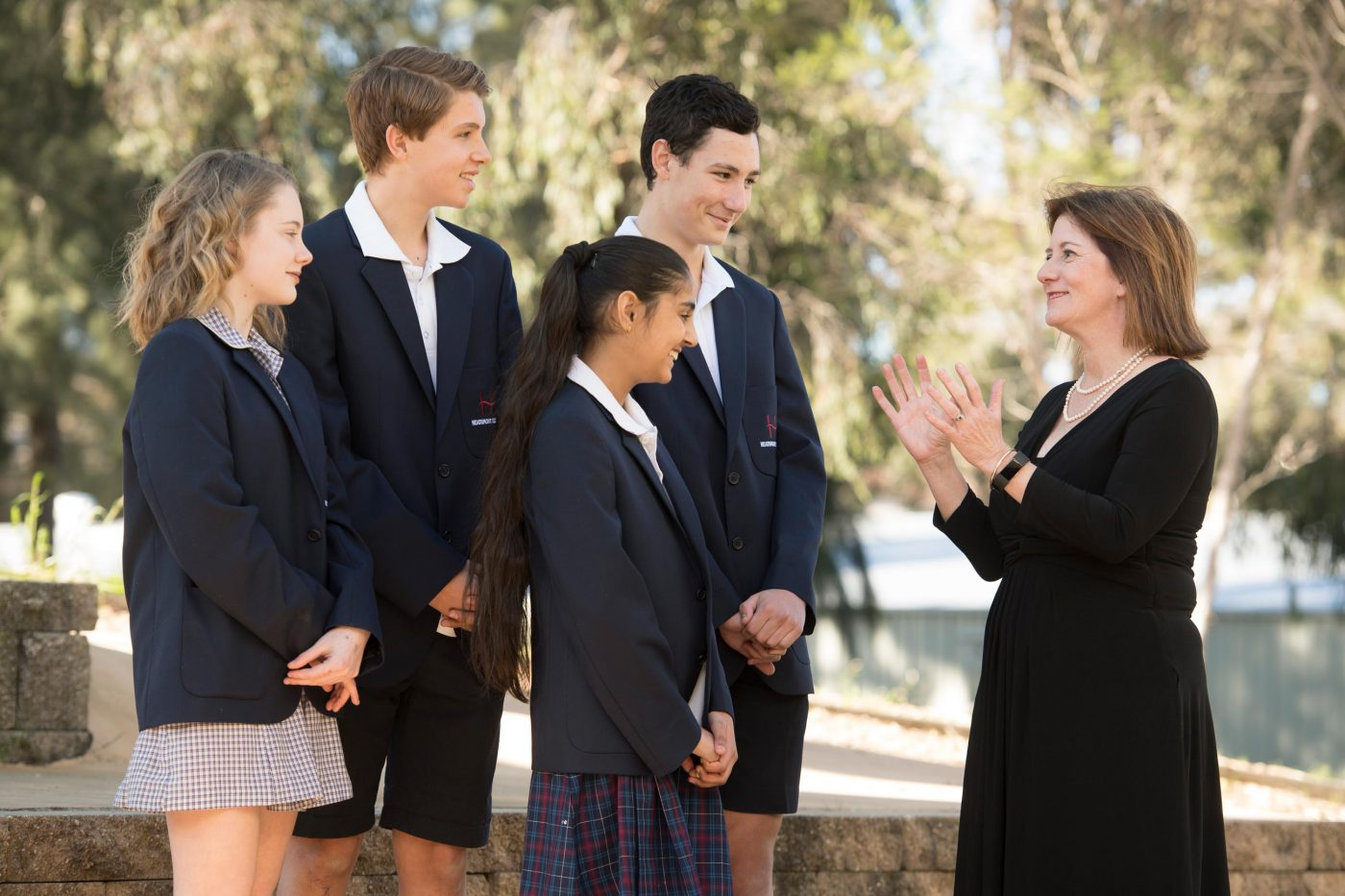 Students with Principal